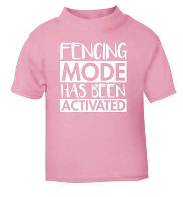 Fencing mode activated light pink Baby Toddler Tshirt 2 Years