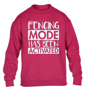 Fencing mode activated children's pink sweater 12-14 Years