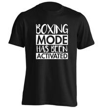 Boxing mode activated adults unisex black Tshirt 2XL