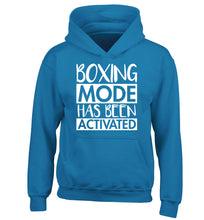 Boxing mode activated children's blue hoodie 12-14 Years