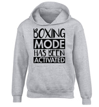 Boxing mode activated children's grey hoodie 12-14 Years