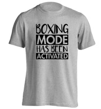 Boxing mode activated adults unisex grey Tshirt 2XL