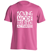 Boxing mode activated adults unisex pink Tshirt 2XL