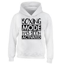 Boxing mode activated children's white hoodie 12-14 Years