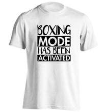 Boxing mode activated adults unisex white Tshirt 2XL
