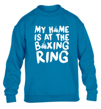 My home is at the boxing ring children's blue sweater 12-14 Years