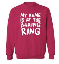 My home is at the boxing ring Adult's unisex pink Sweater 2XL