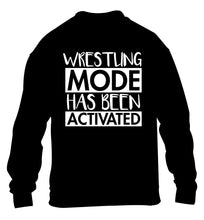 Wresting mode activated children's black sweater 12-14 Years