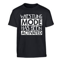 Wresting mode activated Children's black Tshirt 12-14 Years