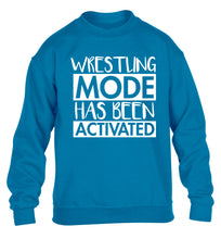 Wresting mode activated children's blue sweater 12-14 Years