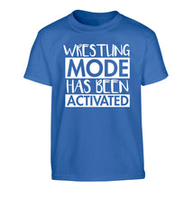Wresting mode activated Children's blue Tshirt 12-14 Years