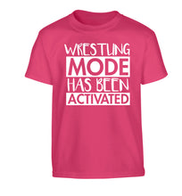 Wresting mode activated Children's pink Tshirt 12-14 Years