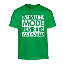 Wresting mode activated Children's green Tshirt 12-14 Years