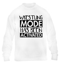 Wresting mode activated children's white sweater 12-14 Years