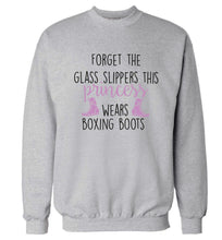 Forget the glass slippers this princess wears boxing boots Adult's unisex grey Sweater 2XL