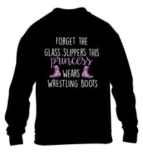 Forget the glass slippers this princess wears wrestling boots children's black sweater 12-14 Years