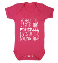 Forget the castle this princess lives at the boxing ring Baby Vest dark pink 18-24 months