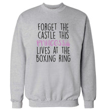 Forget the castle this princess lives at the boxing ring Adult's unisex grey Sweater 2XL