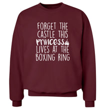Forget the castle this princess lives at the boxing ring Adult's unisex maroon Sweater 2XL