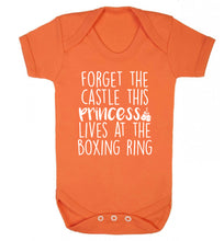 Forget the castle this princess lives at the boxing ring Baby Vest orange 18-24 months