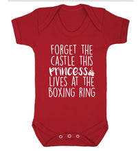 Forget the castle this princess lives at the boxing ring Baby Vest red 18-24 months