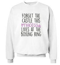 Forget the castle this princess lives at the boxing ring Adult's unisex white Sweater 2XL