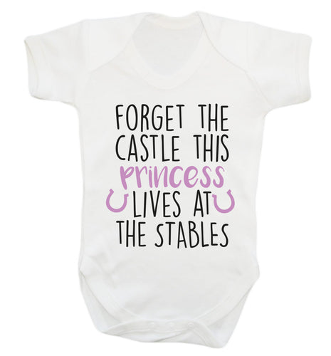 Forget the castle this princess lives at the stables Baby Vest white 18-24 months