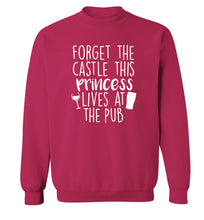 Forget the castle this princess lives at the pub Adult's unisex pink Sweater 2XL