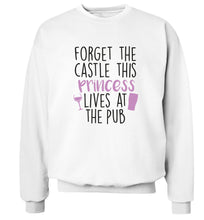 Forget the castle this princess lives at the pub Adult's unisex white Sweater 2XL
