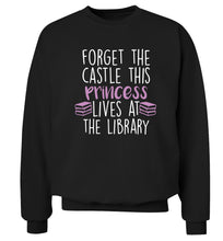 Forget the castle this princess lives at the library Adult's unisex black Sweater 2XL