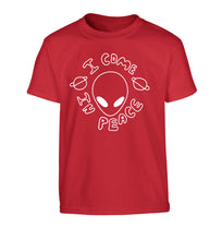I come in peace Children's red Tshirt 12-14 Years