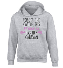 Forget the castle this princess lives at the caravan children's grey hoodie 12-14 Years