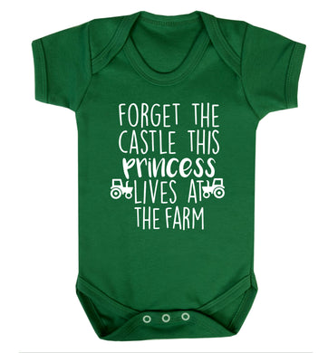 Forget the castle this princess lives at the farm Baby Vest green 18-24 months