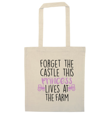 Forget the castle this princess lives at the farm natural tote bag