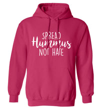 Spread hummus not hate script text adults unisex pink hoodie 2XL