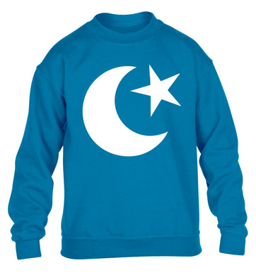 Eid symbol children's blue sweater 12-13 Years