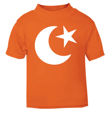 Eid symbol orange baby toddler Tshirt 2 Years