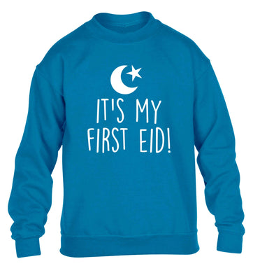 It's my first Eid children's blue sweater 12-13 Years