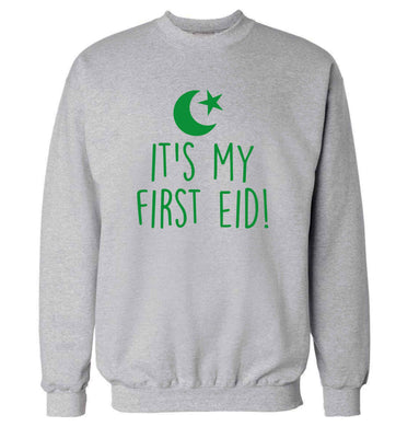 It's my first Eid adult's unisex grey sweater 2XL