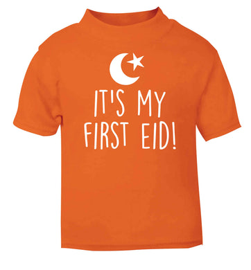 It's my first Eid orange baby toddler Tshirt 2 Years