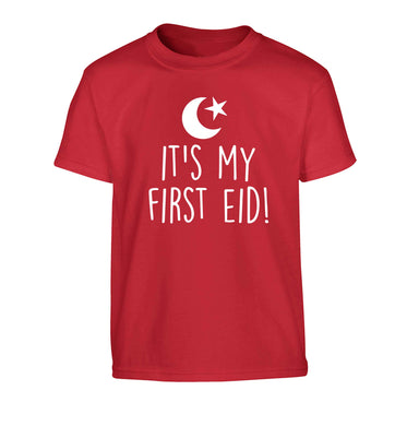 It's my first Eid Children's red Tshirt 12-13 Years