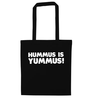 Hummus is Yummus  black tote bag