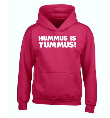 Hummus is Yummus  children's pink hoodie 12-14 Years