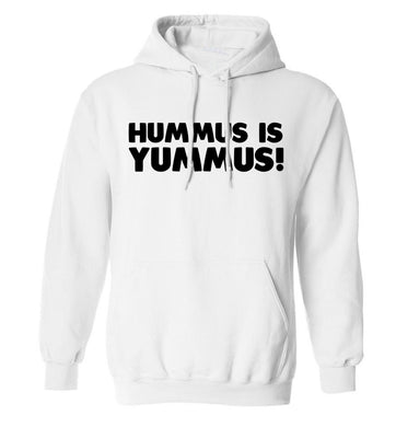 Hummus is Yummus  adults unisex white hoodie 2XL