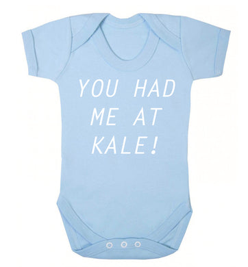 You had me at kale Baby Vest pale blue 18-24 months
