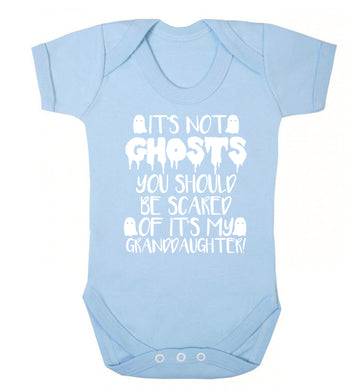It's not ghosts you should be scared of it's my granddaughter! Baby Vest pale blue 18-24 months