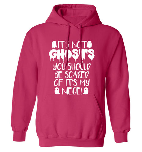 It's not ghosts you should be scared of it's my niece! adults unisex pink hoodie 2XL
