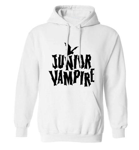 Junior vampire adults unisex white hoodie 2XL