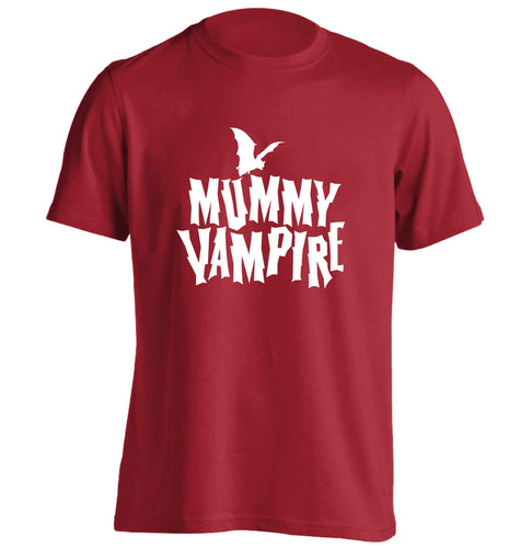 Mummy vampire adults unisex red Tshirt 2XL