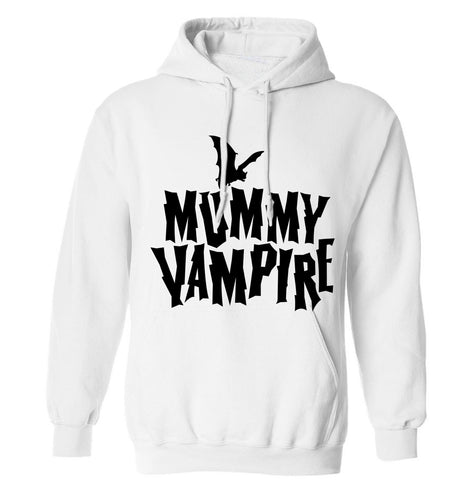 Mummy vampire adults unisex white hoodie 2XL